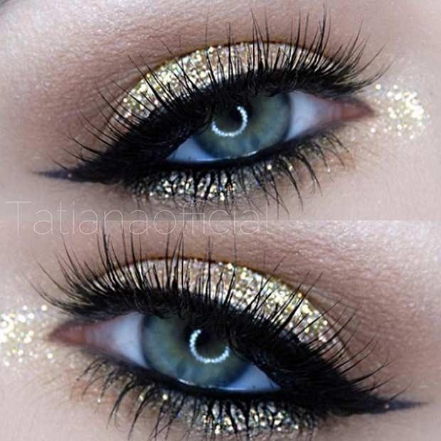 Gold Eye Makeup Ideas