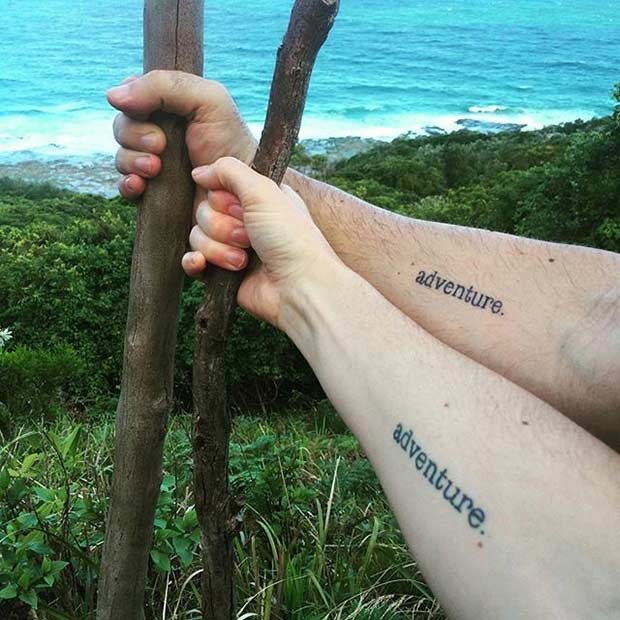 Couples Adventure Travel Matching Tattoos