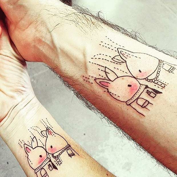 61 Cute Couple Tattoos That Will Warm Your Heart Page 5 Of 6 Stayglam
