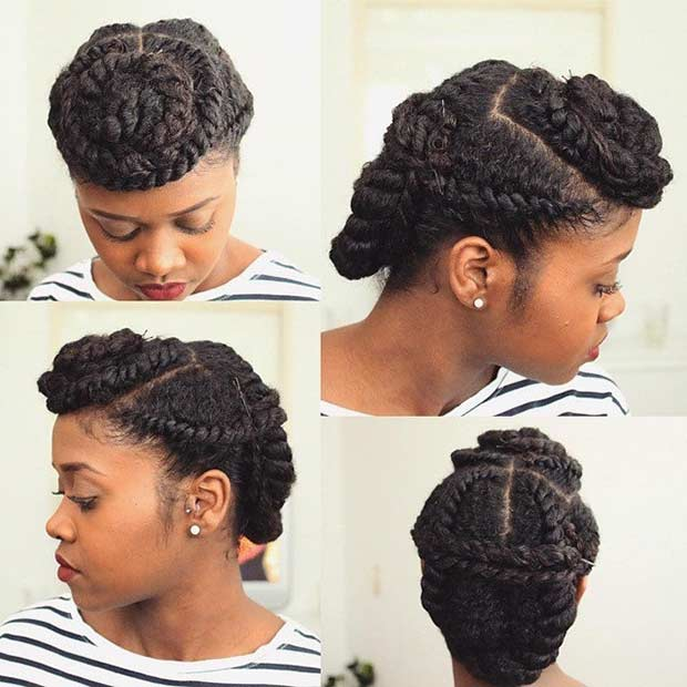 21 gorgeous flat twist hairstyles page 2 of 2 stayglam natural hair flat twist updo pmusecretfo Choice Image