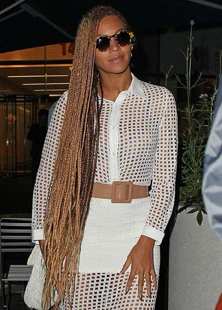 Beyonce Super Long Micro Braids Style