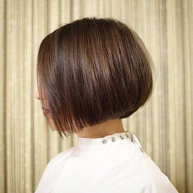 Short Voluminous Bob Haircut for Brunettes