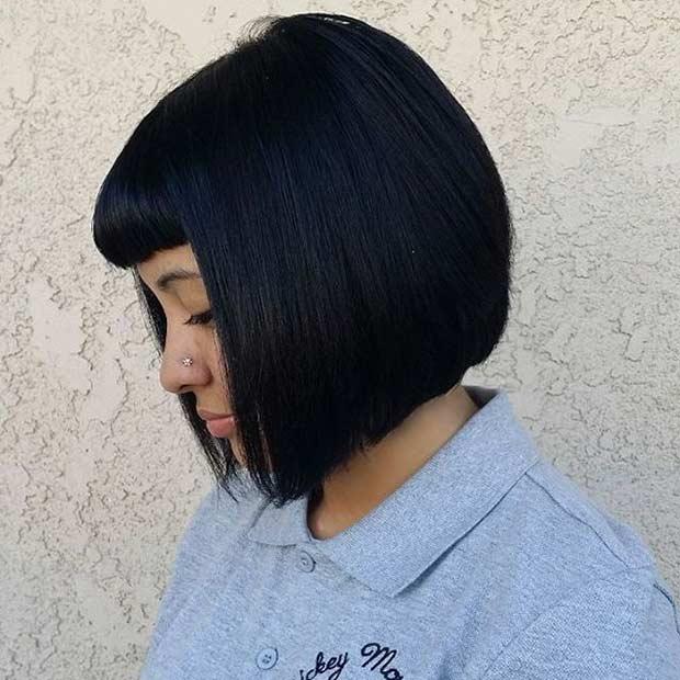 Short Bob Hairstyle with Bangs
