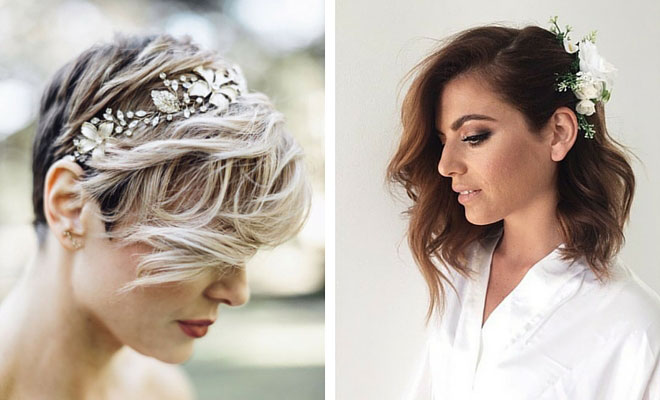 31 wedding hairstyles for short to mid length hair stayglam junglespirit Images