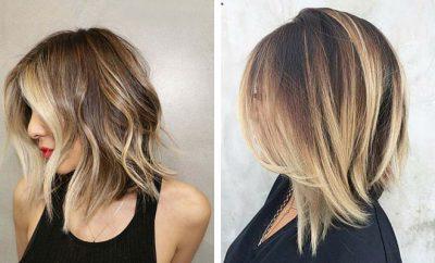 Light Ash Brown Hair Balayage Long Bobs