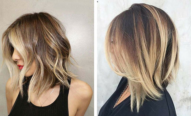 2016 Medium Length Layered Bob Hairstyles besides Shoulder Length ...