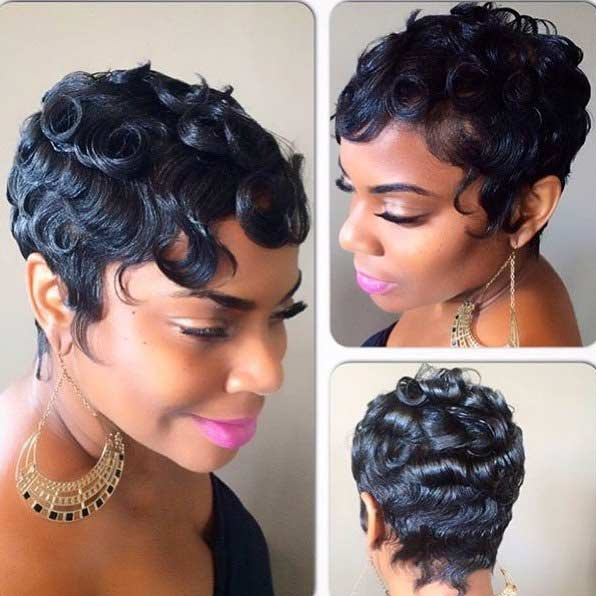 Pixie Cut with Curls and Swirls