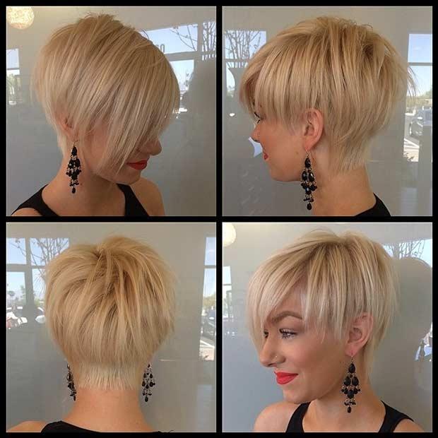 Longer Blonde Pixie Cut