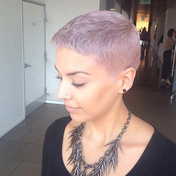Pastel Pixie Cut Style
