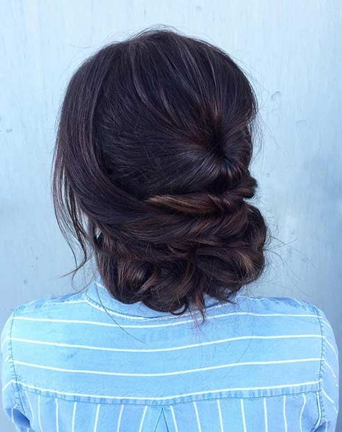Simple and Elegant Updo for Prom