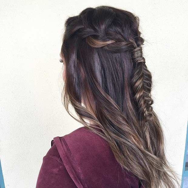 Half Up Half Down Hairstyles For Straight Hair: 31 Half Up, Half Down Prom Hairstyles
