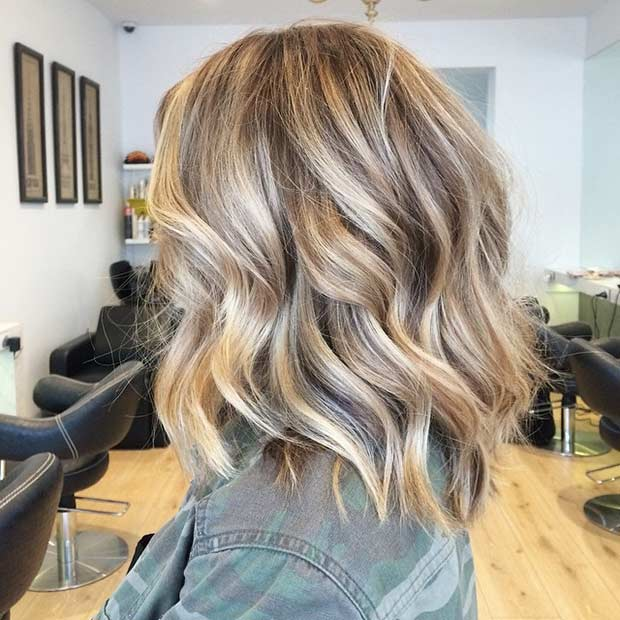 Textured Long Bob Haircut for Thick Hair