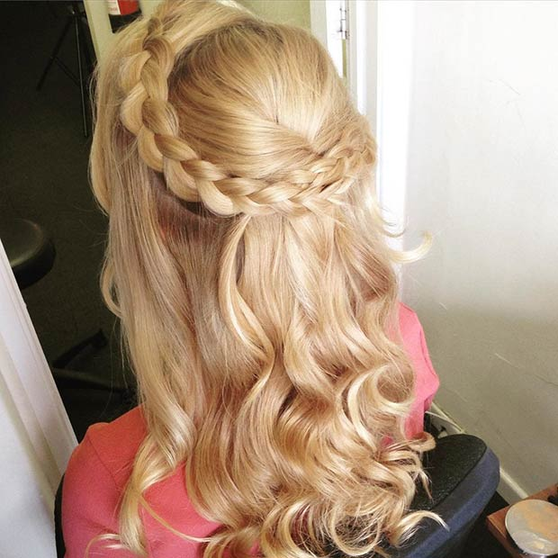 Half Up Half Down Prom Hairstyles Page Of StayGlam - Hairstyle with curls and braids