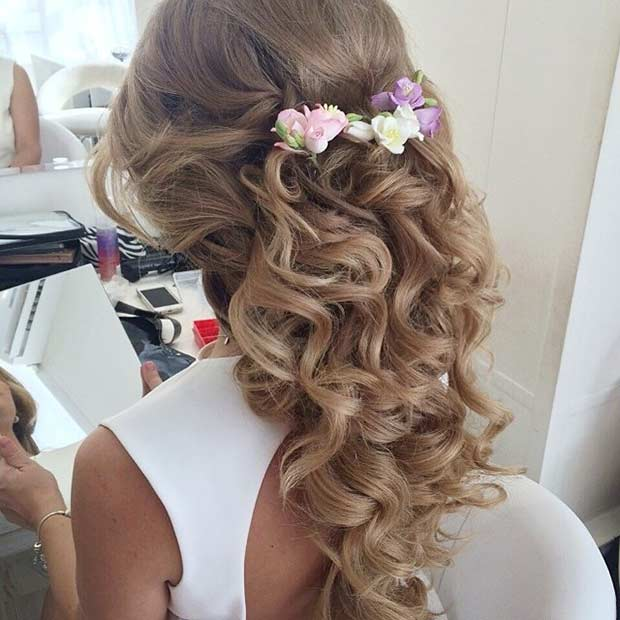 31 Half Up, Half Down Prom Hairstyles | StayGlam
