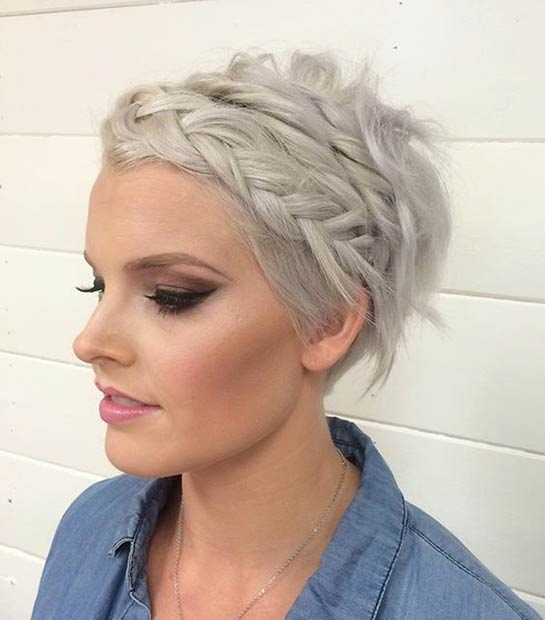 Admirable Short Hair Wedding Braid Braids Short Hairstyles Gunalazisus