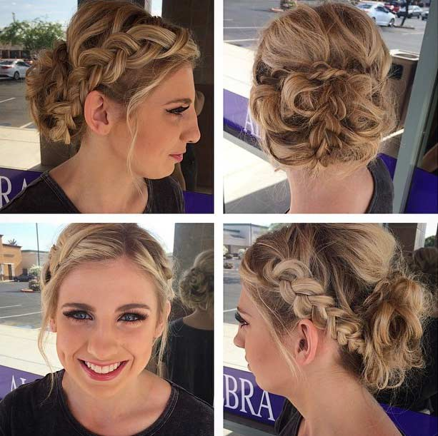 Messy Braided Updo Inspiration
