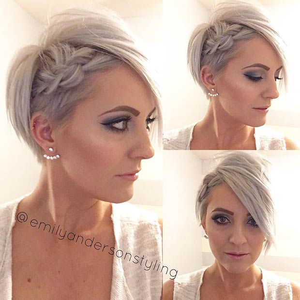 Wedding Side Braid Hairstyle For Short Hair