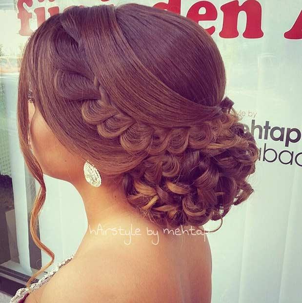 Classy and Elegant Bun Updo for Bridesmaids