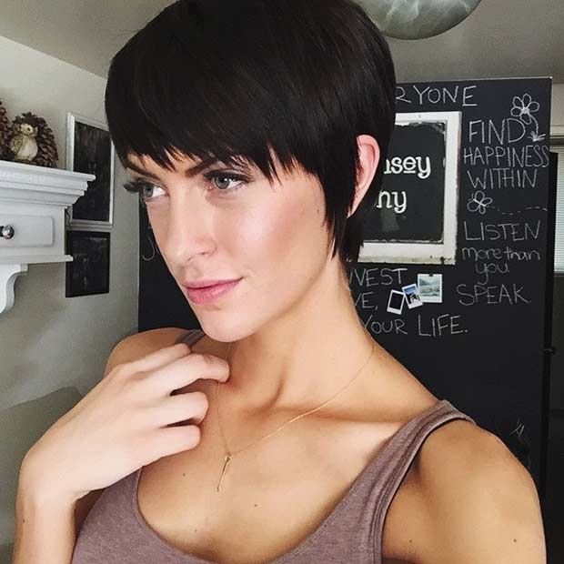 Pixie Cut with Longer Bangs and Sides