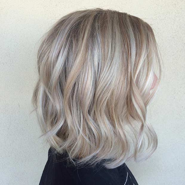 Blonde Sombre Long Bob Hairstyle