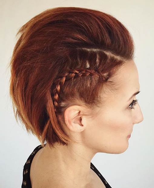 Edgy Wedding Hairstyle for Short Hair