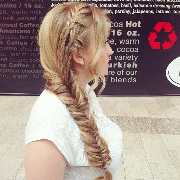 Braided Prom Hairstyle for Long Hair