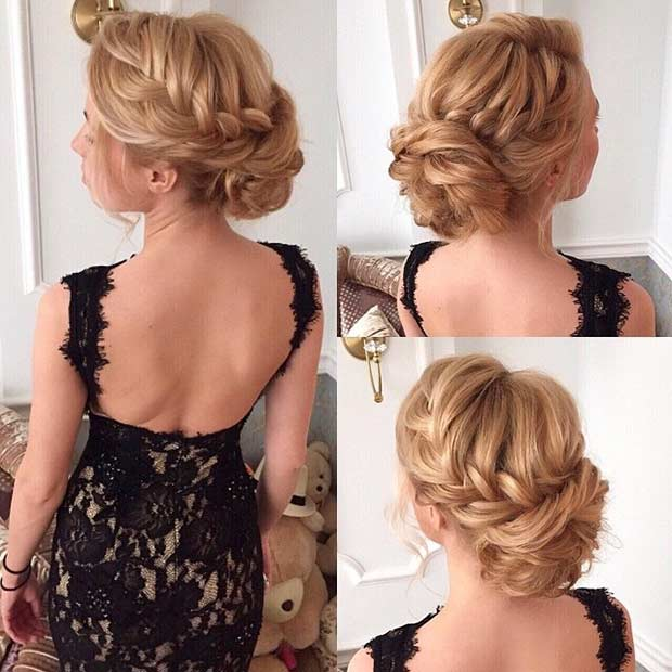 Excellent 35 Gorgeous Updos For Bridesmaids Stayglam Hairstyle Inspiration Daily Dogsangcom