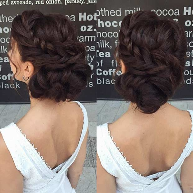 Twisted Braid Updo for Bridesmaids