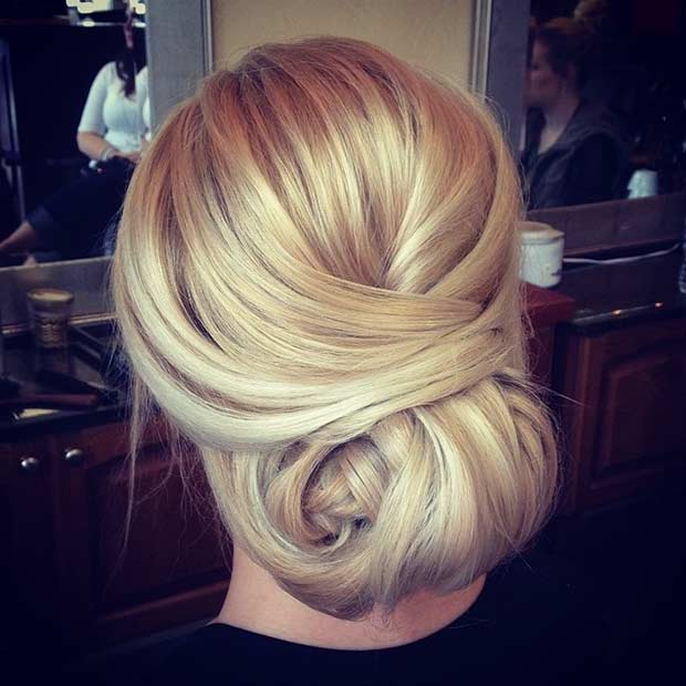 Sleek Elegant Updo for Bridesmaids