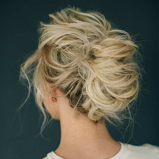 Messy French Twist Updo for Bridesmaids