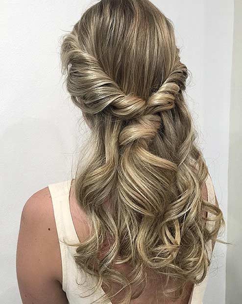 Lastest 19 Half Up Half Down Prom Hairstyles