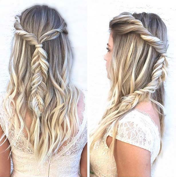 Half Up Half Down Braided Wedding Hairstyles: 31 Half Up, Half Down Prom Hairstyles