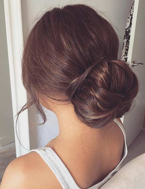 Elegant Bun Updo for Prom - 31 Most Beautiful Updos For Prom StayGlam