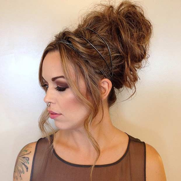 Easy Cute And Messy Bun Hairstyles For Long Hair Stylish Walks