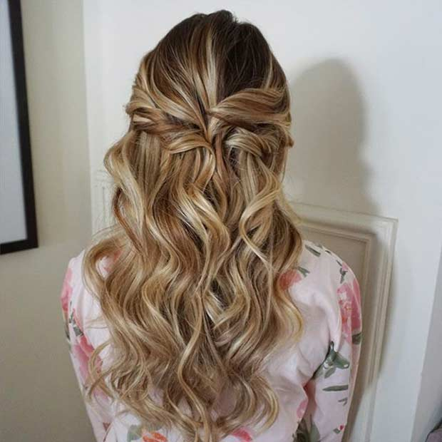 31 Half Up, Half Down Prom Hairstyles | Page 2 of 3 | StayGlam
