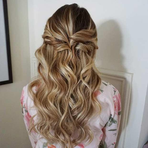 Original 9 Half Up Half Down Prom Hairstyles Type