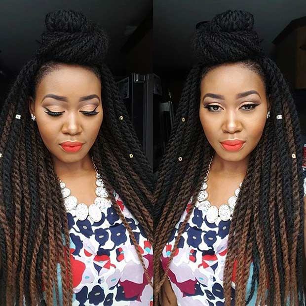 Long Crochet Twists Protective Hairstyle