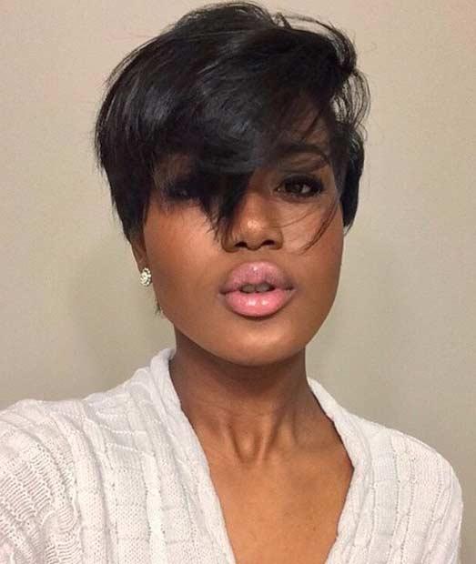 Modern Messy Pixie Cut for Black Women