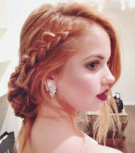 Side Braid Updo for Prom