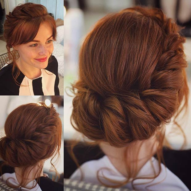 Romantic Twisted Prom Updo