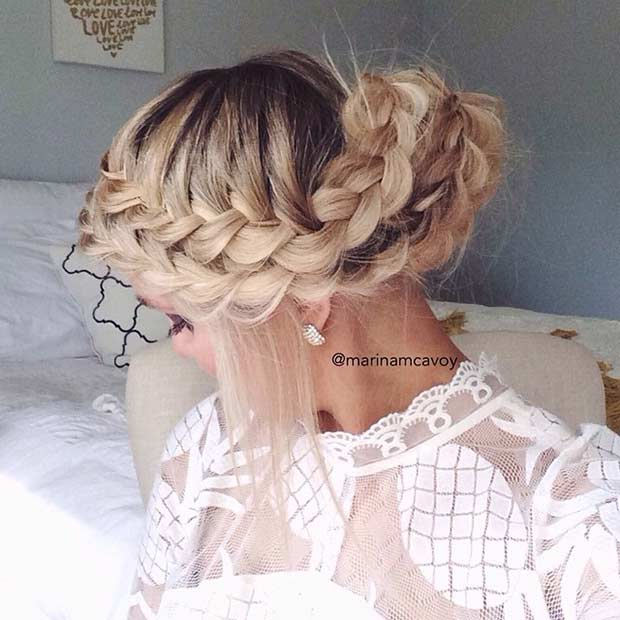 Boho Braided Updo for Special Occassions