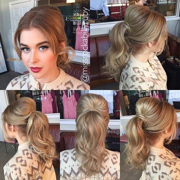 Vintage 1960s Ponytail Hairstyle