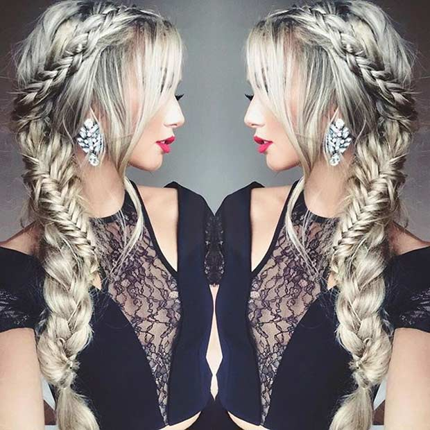 Braids to the Side Hairstyle for Prom