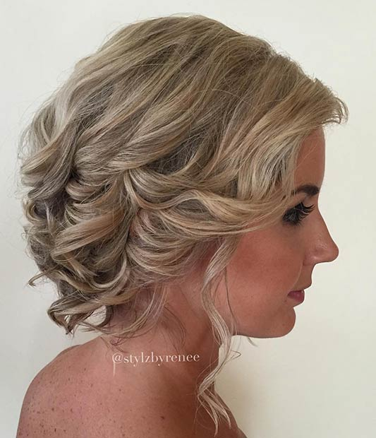 Curly Updo Hairstyles For Weddings: 31 Wedding Hairstyles For Short To Mid Length Hair