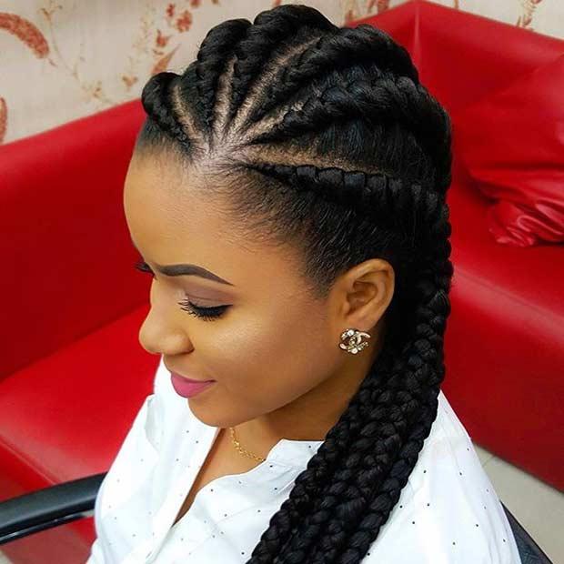 Braided Hairstyles For Black Women wonderful short braided hairstyles for black women Ghana Braids Protective Hairstyle For Black Hair