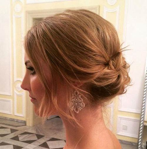 Messy Wedding Updo for Short Hair