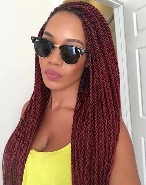 Senegalese Twists Protective Hairstyle