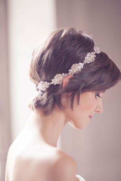 Great Gatsby Pixie Wedding Hairstyle