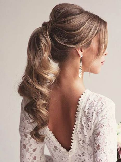 Image result for Braided Low Ponytail bridal hairstyles