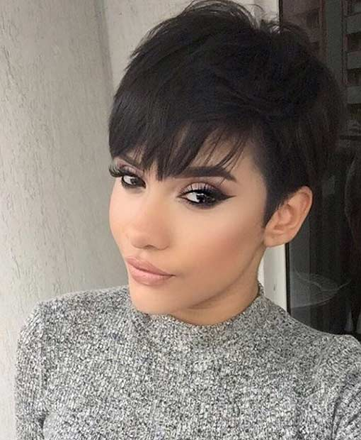Short Layered Pixie Cut with Bangs